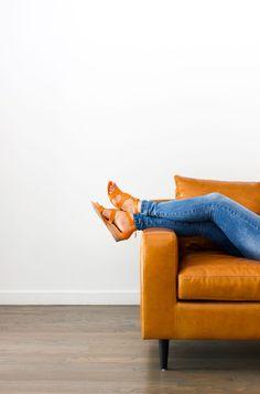 09fce3f571b1 Sloan custom leather sofa from Interior Define Unique Floor Plans