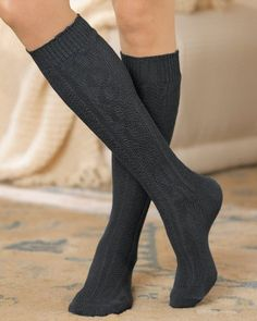 National Cable Knit Knee Socks, 6-pk $14.95