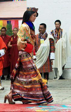 Jetsun Pema- Queen of Bhutan, her wedding dress(pictured) took 3 years to weave.