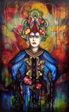 """Frida Kah-llo-age - Art Is...You - Your Mixed Media Art Retreats... """"I paint my own reality. The only thing I know is that I paint because I need to, and I paint whatever passes through my head without any other consideration."""" ~Frida Kahlo"""