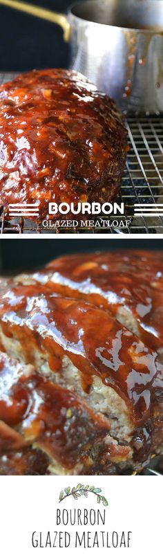 Glazed Meatloaf Bourbon Glazed Meatloaf: this is seriously good, sauce is awesome!, used ground chuck/ground pork mixture for meatloaf, red raspberry jam in sauce. Made Glazed Meatloaf: this is seriously good, sauce is awesom Bourbon Recipes, Meat Recipes, Cooking Recipes, Meatloaf Recipes, I Love Food, Good Food, Yummy Food, Beef Dishes, Food Dishes