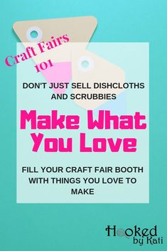 Don't know what to sell at a craft fair? What items sell the best? Fill your craft fair booth inventory with what you love to make and increase your sales! What to sell at a craft fair, How to make more money at a craft fair. Crochet Craft Fair, Crochet Projects To Sell, Crochet Crafts, Crafts To Sell, Crochet Toys, Crochet Ideas, Crochet Patterns, Sand Crafts, Seashell Crafts