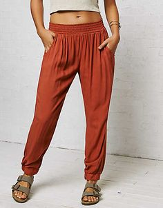 Don't Ask Why Soft Jogger Pant , Rust | American Eagle Outfitters