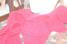 Pink ruffle scarf by jfaypaperdolls on Etsy