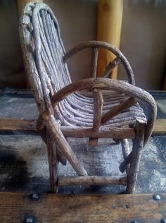 Bentwood Chair / Boyds Collection / Miniature by Lauralous on Etsy, $18.00