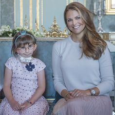 Queen Silvia and Princess Madeleine met with Enna for Min Stora Dag. 12-9-2016