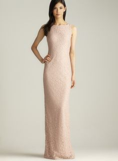 Back V Sleeveless Long Lace Dress