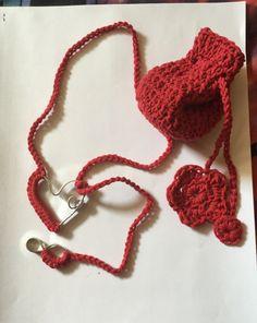 Amore Infinito - Infinity Love filo di cotone e wire piatto per una semplice collana! ❤ con sacchettino per custodirla ❤