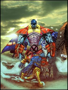 #Colossus #Fan #Art. (The Cyclops and the Colossus) By: CRISTIAN-SANTOS.