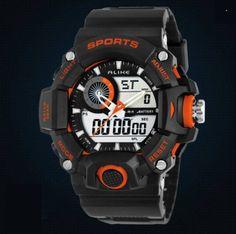 Pánské moderní sportovní hodinky oranžová – pánské hodinky Na tento produkt  se vztahuje nejen zajímavá sleva bc922c90ed