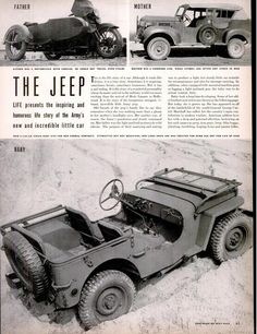 Life magazine wartime story on Willys Jeep