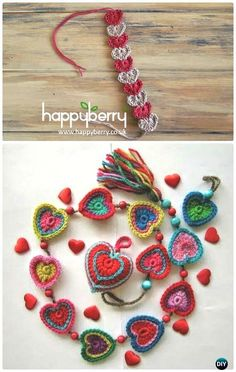 Crochet Valentine Heart Gift Ideas Projects Free Patterns: The list covers love hat, scarf, heart tops, jewelry, blankets and table runner. Crochet Gifts, Crochet Yarn, Free Crochet, Crochet Things, Crochet Toddler, Crochet Bracelet, Crochet Jewellery, Crochet Decoration, Valentine Heart