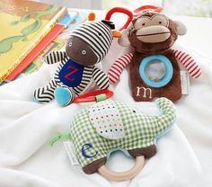 Shop Pottery Barn Kids' stuffed animals in a variety of sizes and animals. Discover quality stuffed animals that your kids will not want to let go. Baby Boy Toys, Baby Kids, Abc Zoo, Zoo Toys, Zoo Activities, Toy Monkey, Personalized Gifts For Kids, Baby Equipment, Infancy