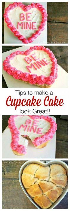 Valentine's Cupcake Cake pull apart