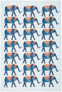 Now Designs Teatowel, Elephants Print