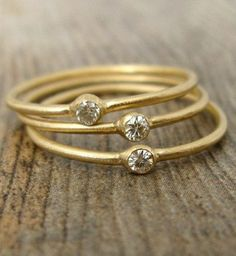 Stacking moissanite rings