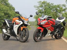 Honda CBR 150r in comparison with Yamaha r15 vesrion 2.0 on the basis of design, performance, comfort & reviews