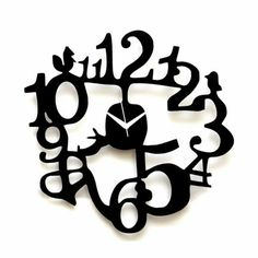 Klok 1 to 12 Wall Clock Black,Wall Clocks
