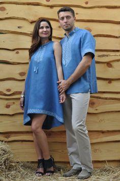 Чоловіча вишиванка та жіноча сукня М16к-273 і П03-273 Тканина: 100% льон Більше інформації на сайті: https://banderiwka.com.ua/p330580953-parnye-vyshivanki-dlya.html