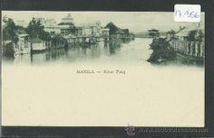 MANILA -RIVER PASIG - REVERSO SIN DIVIDIR - (17356) (Postales - Postales Extranjero - Asia - Filipinas)