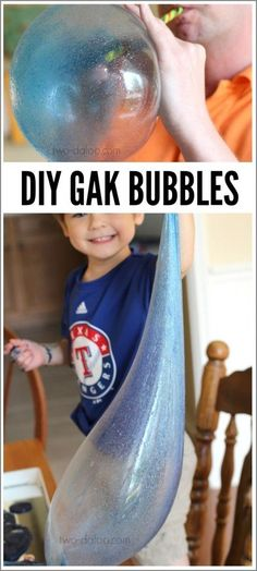 Need a fun activity that the whole family will enjoy? Make some giant gak bubbles with this easy method- guaranteed to produce lots of giggles and grins!