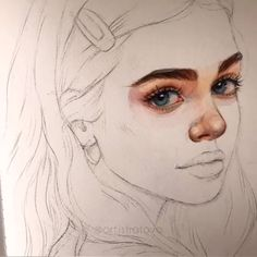 Time lapse video how to draw process building learning artist sketch sketch illustration art drawing Watercolor Portrait Tutorial, Watercolor Art Face, Watercolor Painting Techniques, Watercolor Portraits, Painting & Drawing, Watercolor Paintings, Watercolor Skin Tones, Watercolor Sketch, Cool Art Drawings