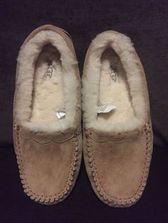 82fc7c952331 ugg moccasins scallop suede slipper women color tan size 9  fashion   clothing. Womens SlippersMoccasinsUggsLoafersMocassin ShoesUgg Boots