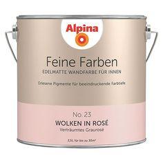 Alpina Feine Farben Wolken in Rosé (2,5 l, No. 23 - Verträumtes Graurosé, Matt)