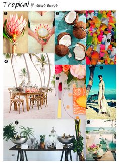 Tropical Mood Board | Tropical Wedding Inspiration