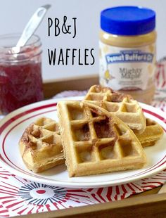 Peanut Butter & Jelly Waffles | stetted