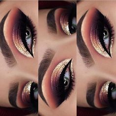 Make-up - This picture is just GOALS! We are always looking for new eyeshadow looks and tutorials for eye colors. Our calendar will help you stay on top of when the latest makeup eyeshadow palettes are being released! Makeup Eye Looks, Cute Makeup, Gorgeous Makeup, Pretty Makeup, Dark Makeup, Natural Makeup, Amazing Makeup, Rose Gold Makeup Looks, Romantic Makeup