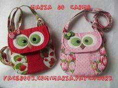 Little girl owl purses Big Boy Clothes, Owl Purse, Owl Bags, Animal Bag, Fabric Purses, Craft Bags, Patchwork Bags, Denim Bag, Girls Bags