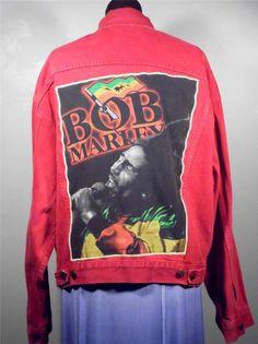 BAREFOOT VINTAGE ORIGINAL BOB MARLEY XL RED LEVI USA JACKET #335 SOLD