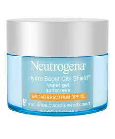 Neutrogena Hydro Boost City Shield Water Gel and Broad Spectrum SPF 25 Sunscreen Moisturizer For Oily Skin, Oily Skin Care, Body Gel, Facial, Skin Care Routine Steps, Broad Spectrum Sunscreen, L'oréal Paris, Makeup Products, Skin Products