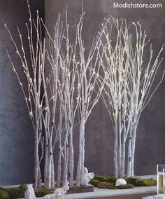 Roost Lighted Birch Forest Tree - Small