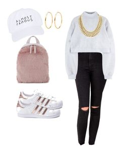 """casual class ready"" by destiny-polk on Polyvore featuring adidas, Nasaseasons and Skinnydip"