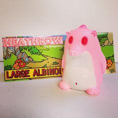 "Frank Kozik's ""Heathrow the Hedgehog (Large Albino!)"" limited edition"