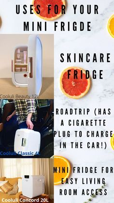 Using your mini fridge or skincare specific fridge for skincare can bring youre skin to the next level. One word- ROADTRIP. If you've ever gone on a roadtrip you know that snacks and drinks are a must! Set your Cooluli to either warm or hot, have it charging in the car and voila you can now store ice cold drinks or warm snacks! Living Room- When you're all cozied up watching your favorite show. Don't get up! Just turn over and pop open that mini fridge for your favorite snack or drink. Portable Mini Fridge, Cool Mini Fridge, Study Break, College Essentials, Midnight Snacks, Make Up Organiser, Shelfie, Instagram Worthy, Makeup Organization