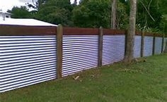 Image result for corrugated fence