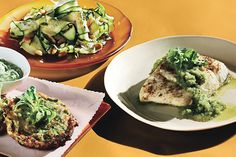 Find the recipe for Halibut with Zucchini Salsa Verde and other zucchini recipes at Epicurious.com