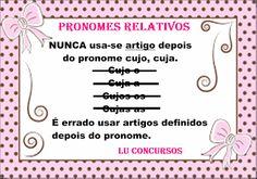 Lu Concursos: PRONOMES RELATIVOS - DICA