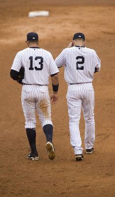 #13 Alex Rodriguez and #2 Derek Jeter
