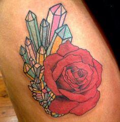 Lauren Winzer crystal flowers