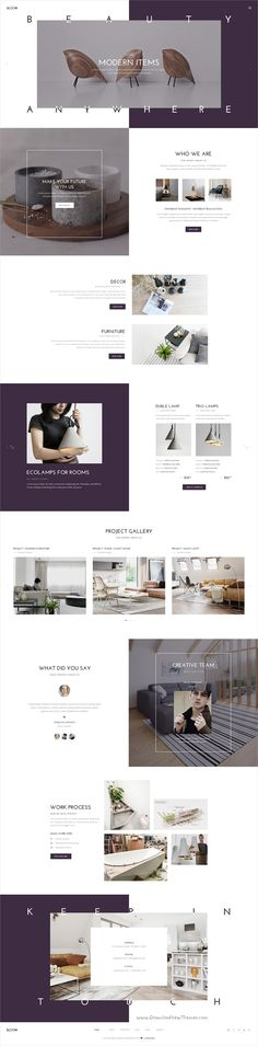 Bloom is #minimal & creative #PSD template for freelancers, #agency, portfolio & photographers websites download now➩ https://themeforest.net/item/bloom-multipurpose-one-multi-page-psd-template/17723527?ref=Datasata