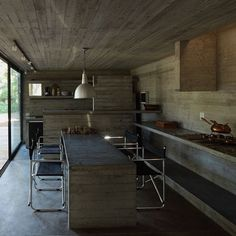 Kitchen Made From Concrete