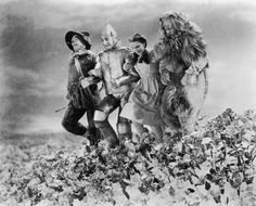 Ray Bolger, Jack Haley, Judy Garland and Bert Lahr, The Wizard of Oz, 1939