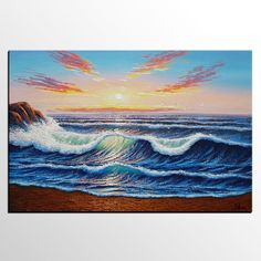 Abstract Art Seascape Painting Original by TexturePainting on Etsy