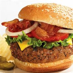 All American Burgers. Perfect for year round grilling, this easy recipe honors the classic burger with delicious, mouthwatering flavor.