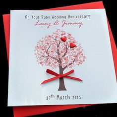 Alternative 40th Wedding Anniversary Gifts : Personalised #handmade ruby / 40th #wedding anniversary / #wedding ...