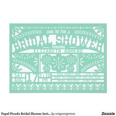 Papel Picado Bridal Shower Invitation